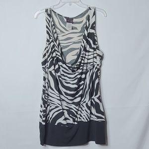 Torrid zebra cowl slouch neck sleeveless blouse 3X
